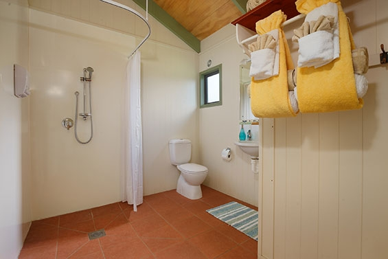 bathroom of two-bedroom family cottage