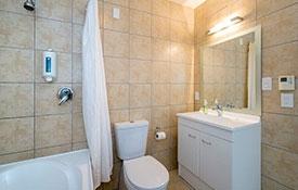 bathroom of standard studio unit