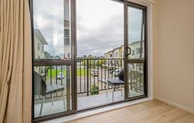 private balcony of superior studio