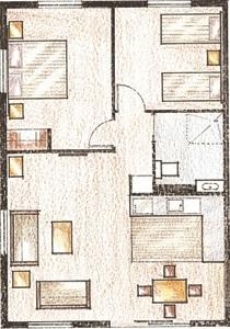 2-Bedroom Accessable Unit Layout