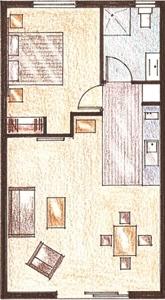 1-Bedroom Unit Layout