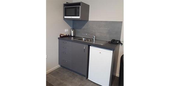 superior accessible studio kitchenette