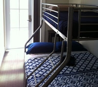 north-facing family rooms with bunk beds