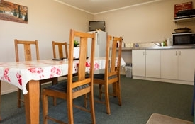 Miners' Cabins - guests share common kitchen and dining area