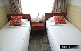 large king-size bed in the main room