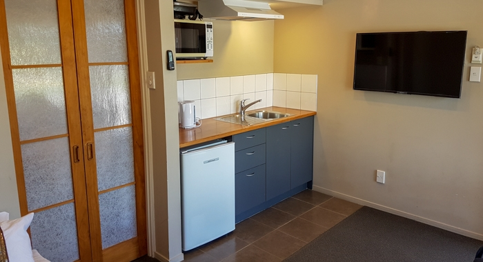 kitchenette in every executive motel unit