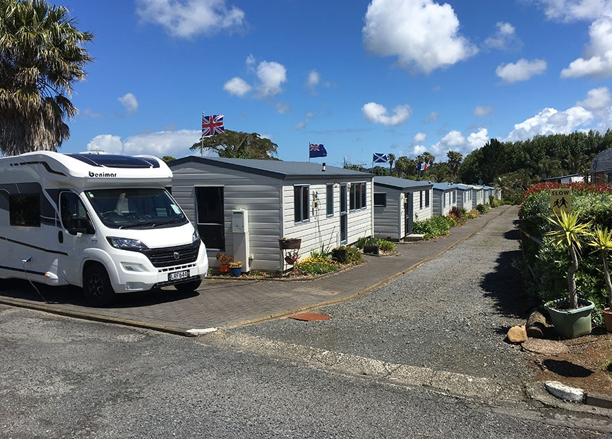 camper vans and motel units