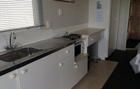 the motel has its own kitchen facilities