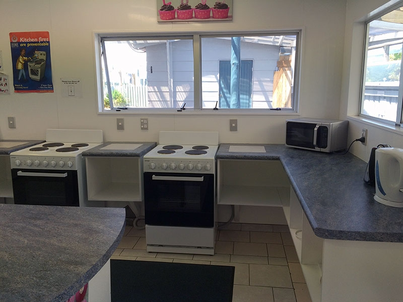 large fully equipped kitchen for guests use