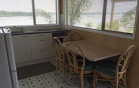 this unit has been recently renovated with a deck