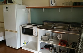 cooking facilities of kitchen cabins