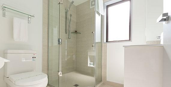 master bedroom on the top floor has its own luxury ensuite bathroom