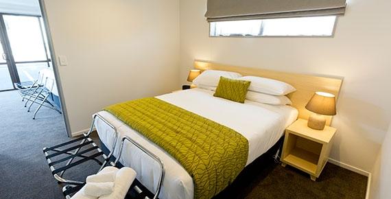 queen-size bed in the second bedroom