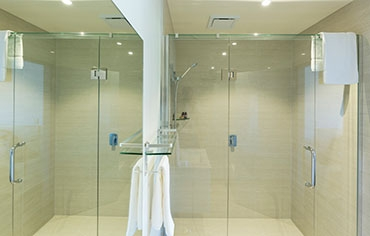 private luxury bathrooms in every unit