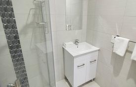 fully tiled luxury bathroom