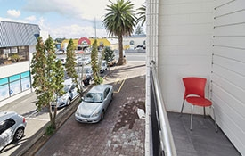very handy location - just a few steps away from the shops restaurants and cafes