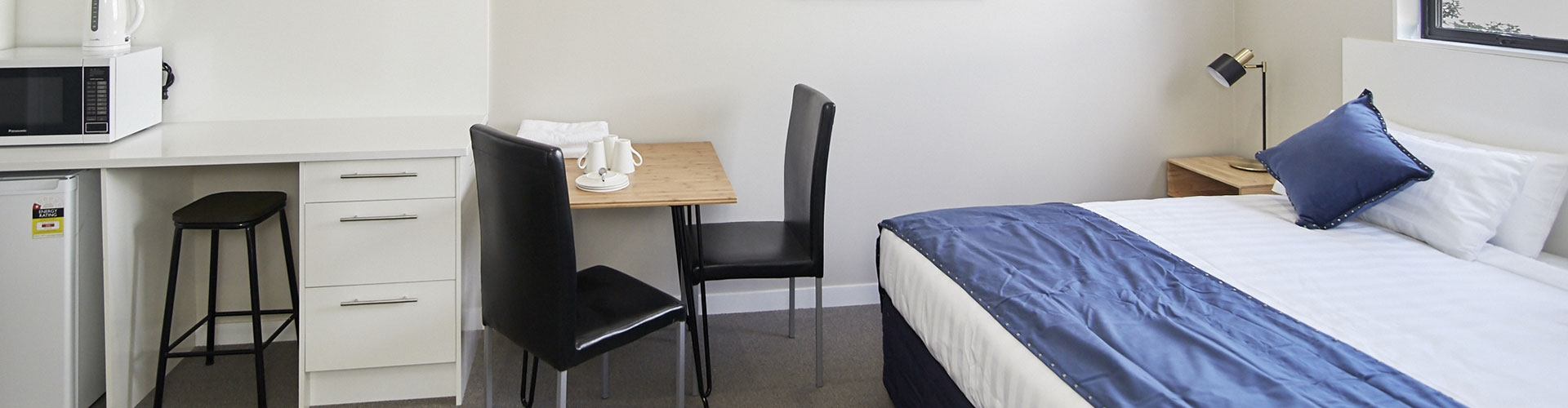 all rooms have microwave, fridge and tea/coffee-making facilities