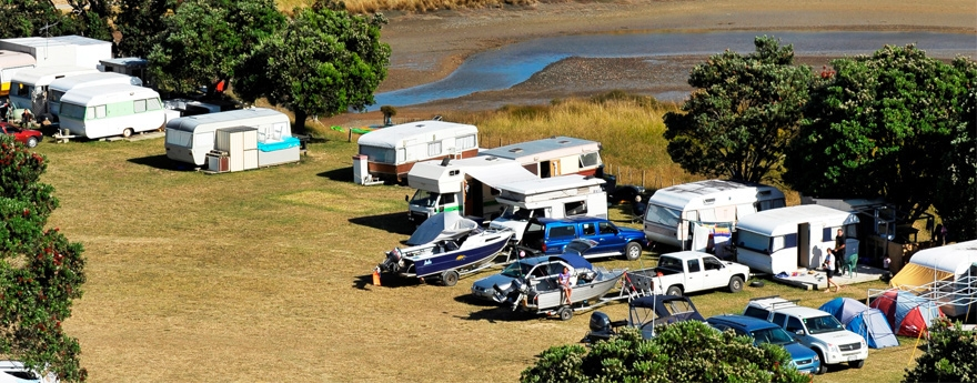 powered and non-powered sites available at Otautu Bay Farm Camp
