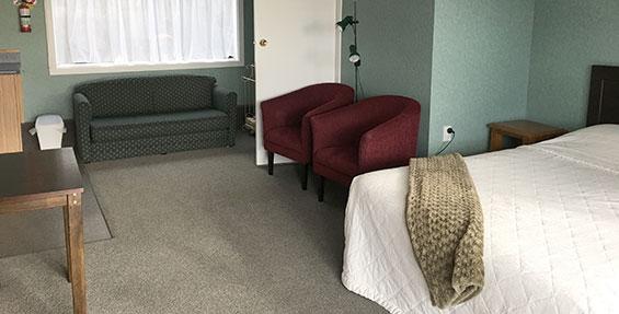 studio unit #1 living area