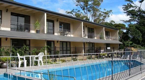 Image of the swimming pool at Falls Motel in Paihia