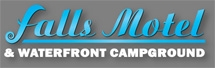 Logo for Paihia Accommodation provider Falls Motel and Waterfront Campground