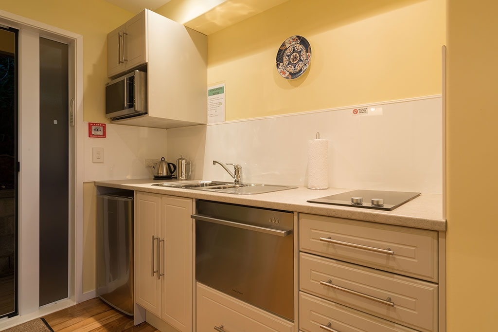 full kitchen in every unit including dishwasher and oven
